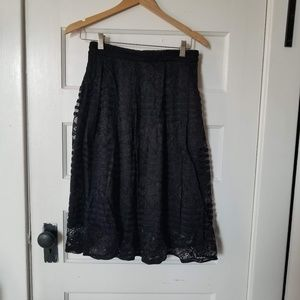 Black Annabella Lace Skirt